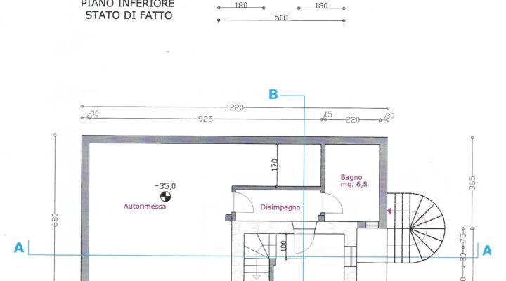 RIF.243-S BAITA SAN NICOLO' DI COMELICO planimetria 4