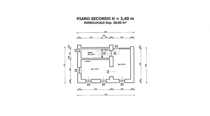 RIF. 246-S APPARTAMENTO SANTO STEFANO DI CADORE planimetria 6