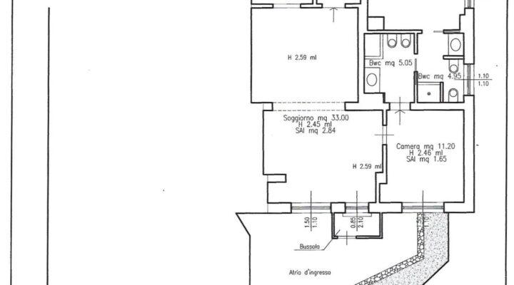 Rif. 590-S Appartamento a Cortina d'Ampezzo planimetria 1