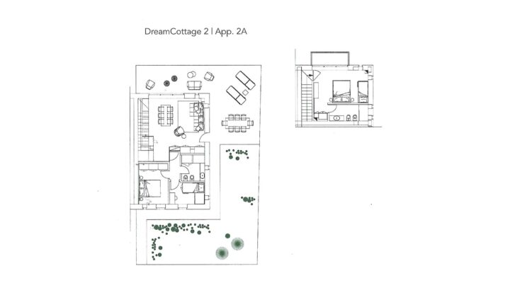 """Rif. 587-S """"Dream Cottage"""" Appartamenti a Padola planimetria 2"""