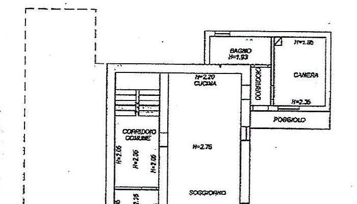 Rif. 597-S Mansarda in vendita a San Pietro di Cadore planimetria 1