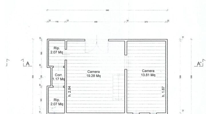 Rif. 595-S Baita panoramica in vendita a Costalta planimetria 6